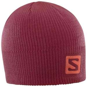 Salomon Logo Beanie Biking Red