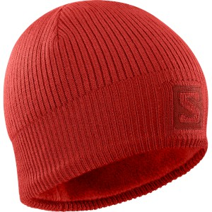 Salomon Logo Beanie Goji Berry