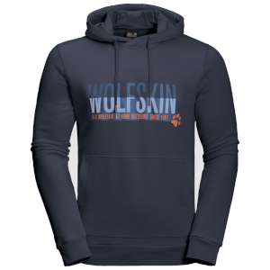 Jack Wolfskin Slogan Hoody Night Blue