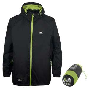 Trespass Qikpac Jacket Black/Leaf