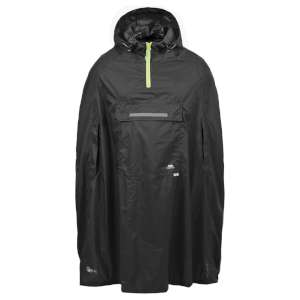 Trespass Qikpac Packaway Poncho Black