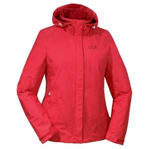 Jack Wolfskin W Mountana Jacket Red Hi