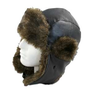 ProClimate Leather Look Trapper Hat Da