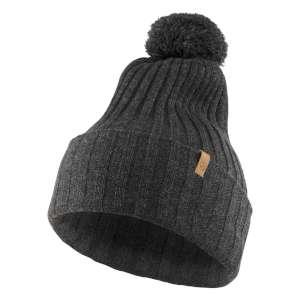 Fjallraven Byron Solid Pom Hat Dark Gr