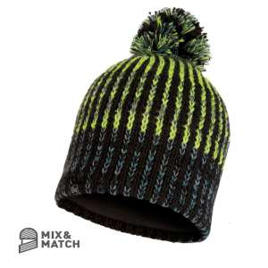 Buff Iver Knitted Hat Black
