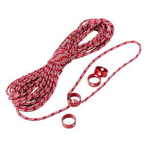 MSR 15m Reflective Utility Cord Red