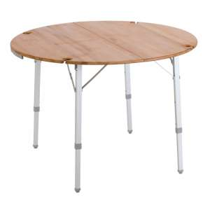 Vango Bamboo Round Table 100cm Bamboo