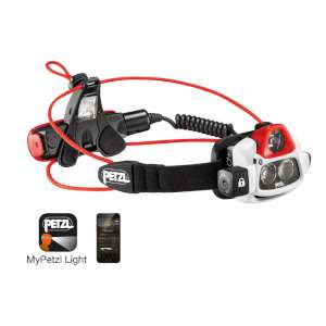Petzl Nao+ Headlamp Grey/Red