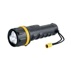 Ring 3 LED Rubber Torch Black