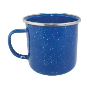 Yellowstone 360ml Enamel Mug Blue
