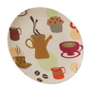 Vango Bamboo 20cm Dessert Plate Coffee