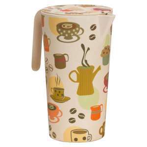 Vango Bamboo Pitcher and 4 Cups Coffee