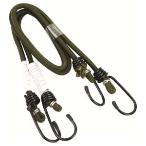 Highlander 60cm 6mm Pk2 Bungees Olive