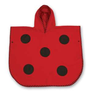 LittleLife Ladybird Poncho Towel Red/B