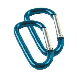 D Shape Carabiner - 2 Pack