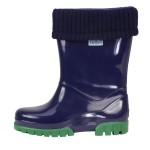 Term Roll Top Welly Navy/Green
