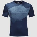 Jack-Wolfskin Peak Graphic Tee Dark In