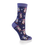 Festive Feet Christmas Socks Purple Pe