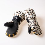 WeeDo Kids Leopard Gloves White/Blk/Br