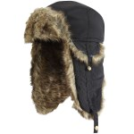 Manbi Boys Bomberboy Winter Hat Black