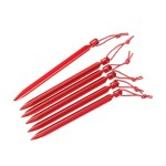 MSR Pk6 Mini-Groundhog Tent Stakes Red