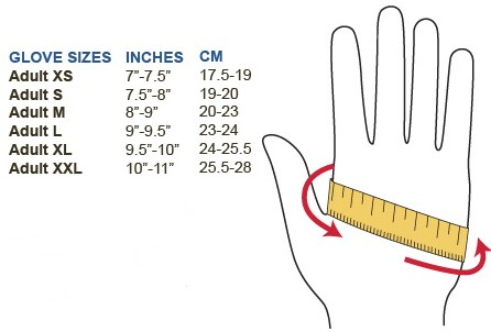 Hand Size Chart