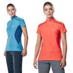 Berghaus Womens Super Short Sleeve Zip Neck Tech T-Shirt