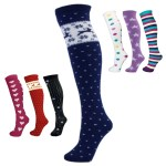 "Manbi  24"" Patterned Tube Socks"