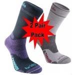 Bridgedale Womens WoolFusion Trekker Socks - 2 Pack