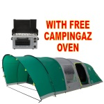 Coleman FastPitch Air Valdes 6XL Tent + Free Campingaz Oven